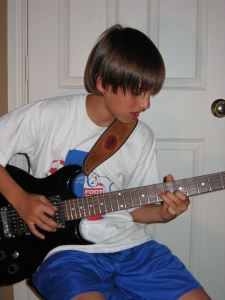My brother, Juli, in his early guitar years.
