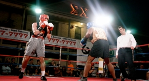 Me (left) and Brian Aninzo of Acacia & Azteca Pride Boxing Gym ©Marc Goodwin/Fratography.com